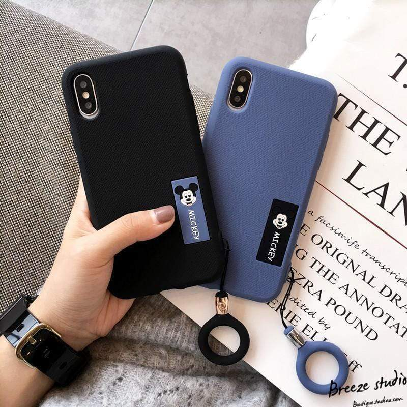 Mickey Mouse Style Matte Silicone Shockproof Protective Designer iPhone Case For iPhone 11 Pro Max X XS Max XR 7 8 Plus - Mixi Iphone Case