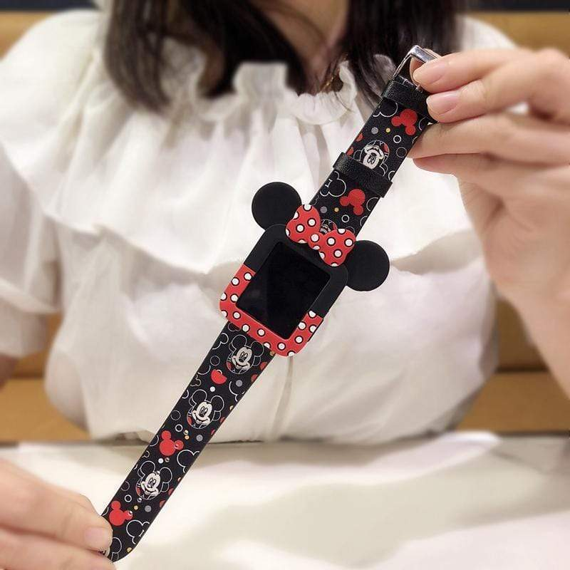 Minnie Mouse Style Polka Dots Silicone Apple Watch Case - Mixi Iphone Case