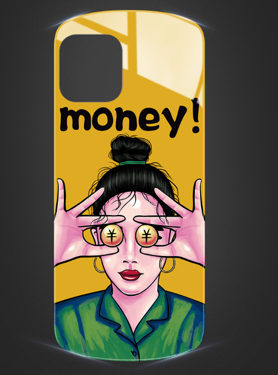 Money Glossy Round Corner Silicone Designer iPhone Case For iPhone 11 Pro Max X XS XS Max XR 7 8 Plus - Mixi Iphone Case