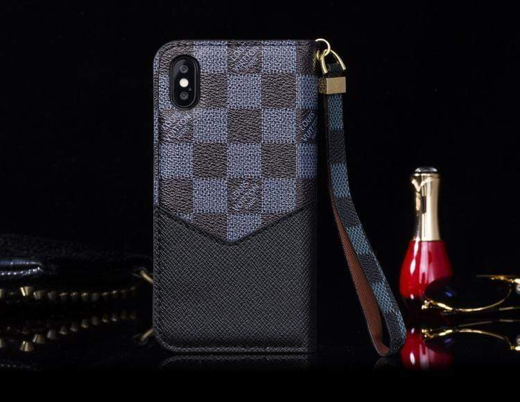 MORE COLORS Louis Vuitton Style Damier Wallet Leather iPhone Case For iPhone X XS XS Max XR 7 8 Plus - Mixi Iphone Case