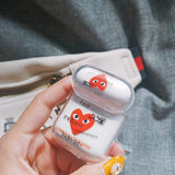 PLAY Comme Des Garcons Gucci Meme Clear Hard AirPods 1 & 2 Case - Mixi Iphone Case