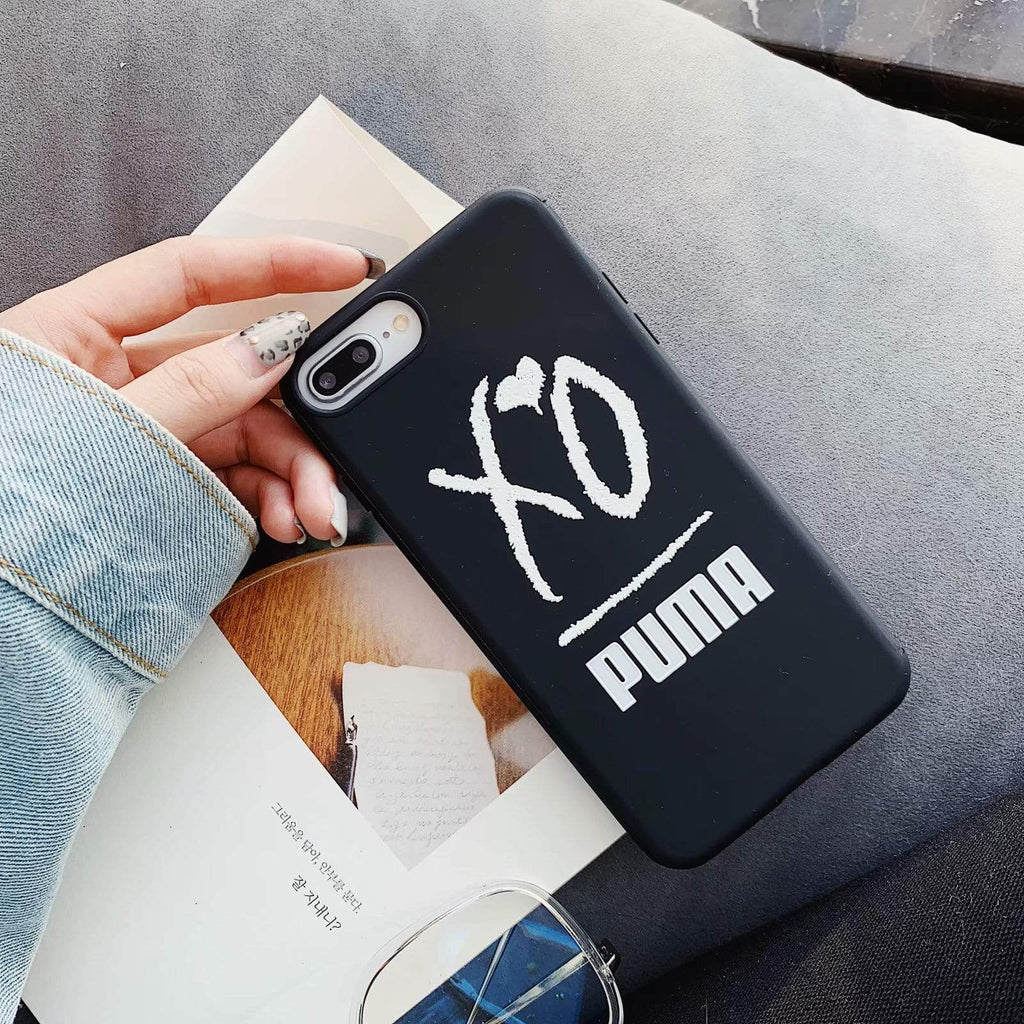 Puma Style Black Silicone Designer iPhone Case For iPhone X XS XS Max XR 7 8 Plus - Mixi Iphone Case