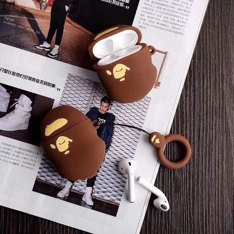 Retro Bape Style 3D Street Fashion Silicone AirPods 1 & 2 Case - Mixi Iphone Case
