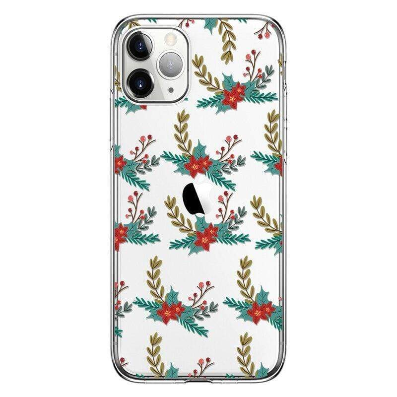 Iphone 11 Soft case for iPhone 11 Pro Christmas Deer Clear TPU Back Cover Case for HuaweiP30 Case for iPhone X XS XR girl gifts Funda capa