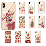 Soft TPU Silicone Phone Cases Coque Christmas Santa Claus New Year for iPhone 6 6S 7 8 plus X XS MAX XR 11 pro MAX  Coque Shell - Mixi Iphone Case
