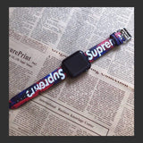 Supreme Style Graffiti Leather Compatible With Apple Watch Band Strap - Mixi Iphone Case