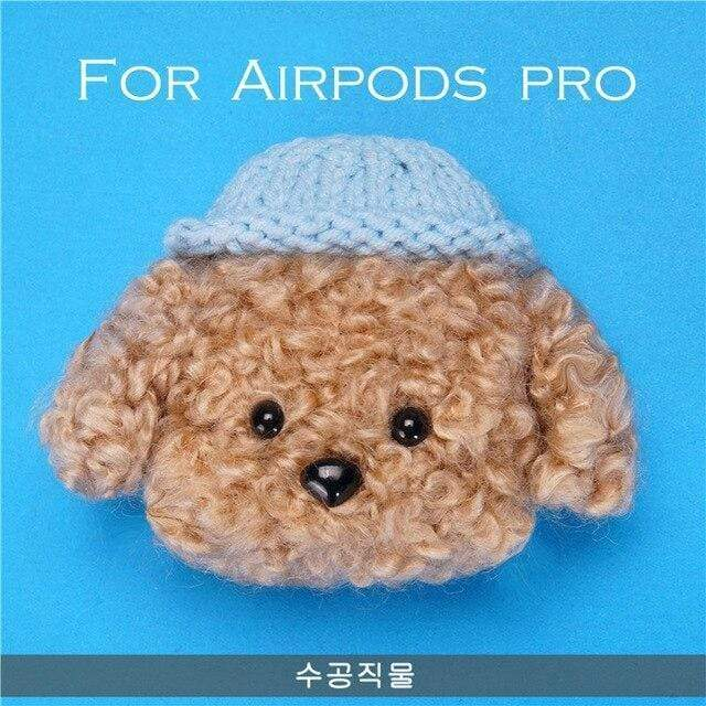 Teddy Plush Case For Apple Airpods Pro Case Wireless Bluetooth Cover For Air Pods pro 3 case cove Accessories Charging Box - Mixi Iphone Case