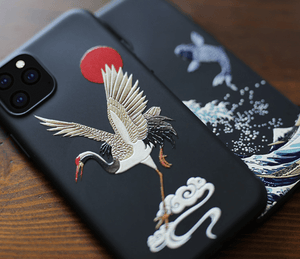 The Great Wave Kanagawa Ukiyo-e Silicone Designer iPhone Case For iPhone 11 Pro Max X XS XS Max XR 7 8 Plus - Mixi Iphone Case