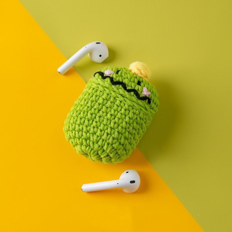 Tom Green Monster Knit Soft Protective AirPods 1 & 2 Case - Mixi Iphone Case