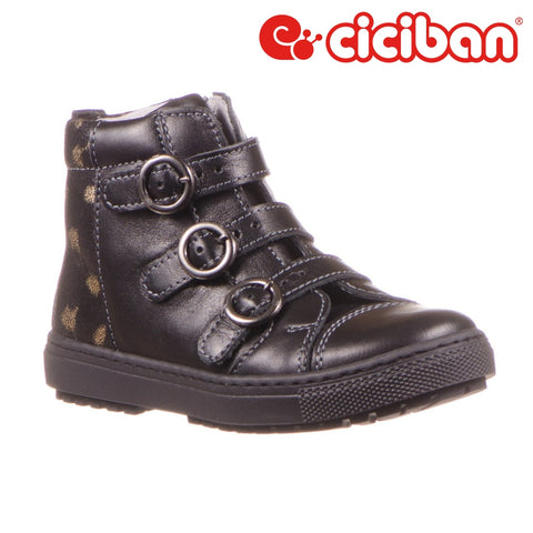 Carmen Black 05 - Side Zipper Shoe
