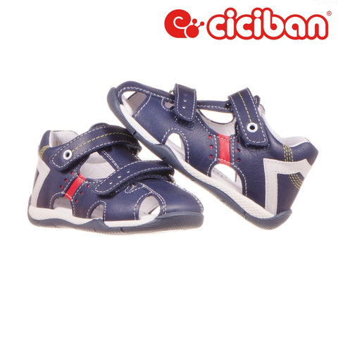 Over Navy 48 Sandal