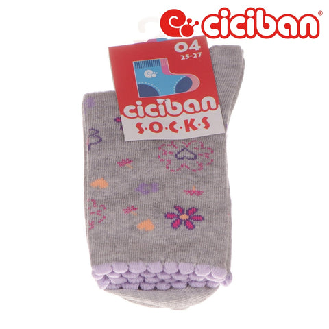 Socks - Flowers & Hearts Grey Extras