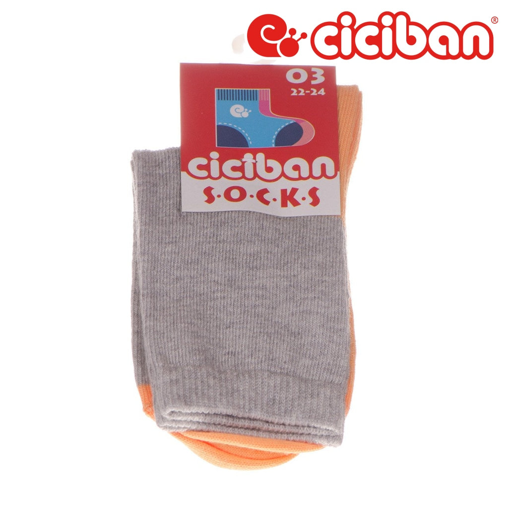Socks - Sport Block Grey/orange Extras