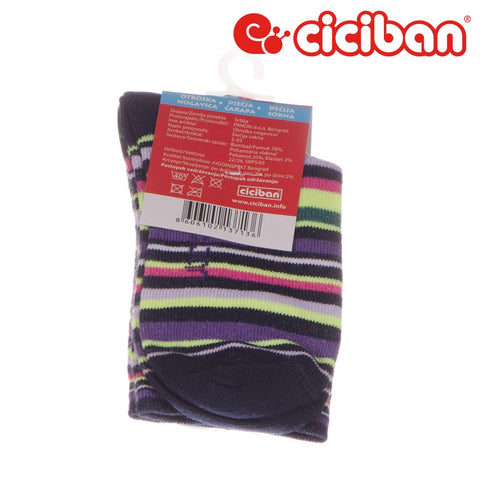 Socks - Stripe Multi Black Extras