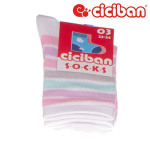 Socks - Stripes Soft On White Extras
