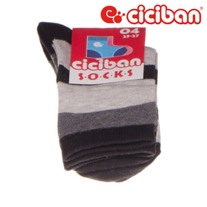 Socks - Wide Stripes Grey/black Extras