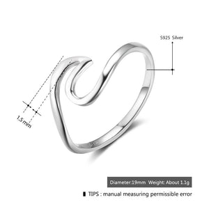 925 Sterling Silver Rings for Women Simple Female Finger Ring Wedding Bands Fine Jewelry Accessories