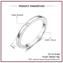 Load image into Gallery viewer, Luxury 925 Sterling Silver Rings for Women Round Cubic Zircon Finger Ring Wedding Engagement Ring Fine Jewelry