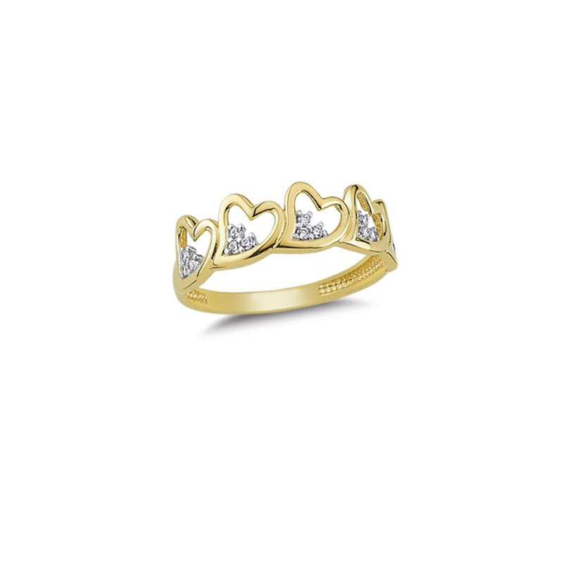 14K Solid Gold Love Ring for Women