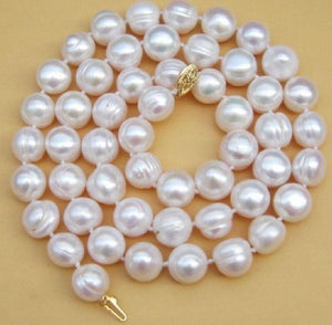 "charming 12-13mm South Sea White Baroque Pearl Necklace 18"">Dongguan girl Store free shipping - jewelrycafee"