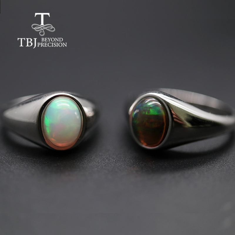 natural Opal Ring oval 7*9mm gemstone women Ring simple elegant fine jewelry 925 sterling silver  tbj promotion