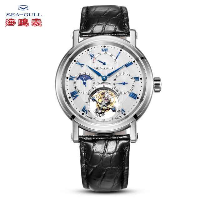 seagull watch men tourbillon mechanical watch Multi-function watch skeleton watches sapphire watch luxury  tourbillion watch - jewelrycafee