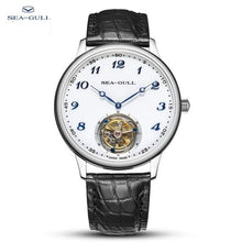 Load image into Gallery viewer, seagull watch men tourbillon mechanical watch luxury watch Manual winding mechanical watch mens luxury Business  skeleton watch - jewelrycafee