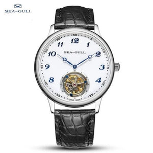 seagull watch men tourbillon mechanical watch luxury watch Manual winding mechanical watch mens luxury Business  skeleton watch - jewelrycafee