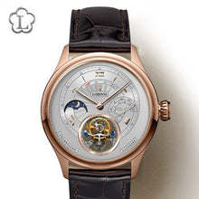 Cargar imagen en el visor de la galería, LOBINNI Switzerland Brand Tourbillon Mechanical Men Wristwatches Leather Strap Skeleton Male Watch Waterproof 50M Male clock - jewelrycafee