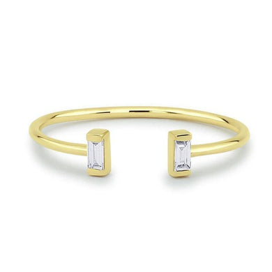 2 pcs 1.5*3mm Baguette Diamond Ring 100% Real Natural Diamond 14K Gold For Women Mothers' Day Gift - jewelrycafee
