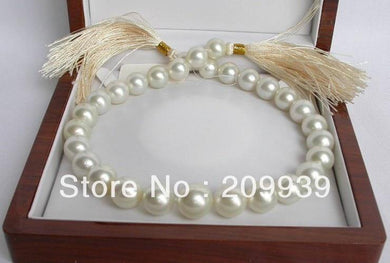 17MM WHITE SOUTH SEA PEARLS NECKLACE  SOLID GOLD (Free shipping) - jewelrycafee