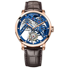 Load image into Gallery viewer, Tourbillon Watch AGELOCER Original watch Skeleton mechanical Sapphire Mens Watches Top Brand Luxury clock men Relogio Masculino - jewelrycafee