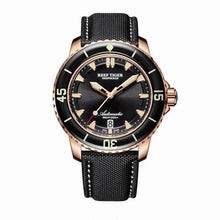 Load image into Gallery viewer, New 2020 Reef Tiger/RT Super Luminous Dive Watches Mens Blue Dial Analog Automatic Watches Nylon Strap reloj hombre RGA3035 - jewelrycafee