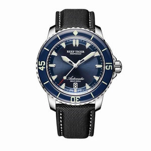 New 2020 Reef Tiger/RT Super Luminous Dive Watches Mens Blue Dial Analog Automatic Watches Nylon Strap reloj hombre RGA3035 - jewelrycafee