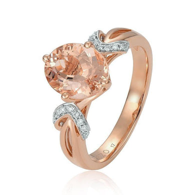 ENZO Natural Morgan Stone18K Pure Gold 2020 New Hot Selling Top Ring Women Heart Shape Ring  For Ladies  Woman Genuine Jewelry - jewelrycafee