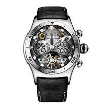 Cargar imagen en el visor de la galería, Reef Tiger/RT Mens Sport Watches Automatic Skeleton Watch Steel Waterproof Tourbillon Watch with Date Day reloj hombre RGA703 - jewelrycafee