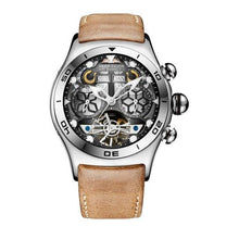 Load image into Gallery viewer, Reef Tiger/RT Mens Sport Watches Automatic Skeleton Watch Steel Waterproof Tourbillon Watch with Date Day reloj hombre RGA703