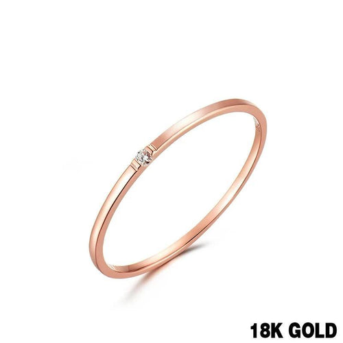 Natural diamond Ring 18k Pure Gold Classic Girl gift Women Hot Selling Party Trendy New 2020 Discount nice Good Rings Wholesale - jewelrycafee