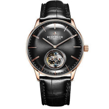 Load image into Gallery viewer, Reef Tiger/RT Men Luxury Brand Tourbillon Watch Blue Rose Gold Automatic Watches Genuine Leather Strap relogio masculine RGA1930 - jewelrycafee