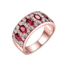 Load image into Gallery viewer, Rings For Women 18KT Yellow Gold Natural 1.5Ct Emerald Ruby Sapphire Genuine Diamonds Party Anniversary Ring Bands Gift Jewelry