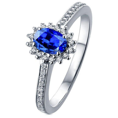 MAQ Natural sapphire 18K Pure Gold 2020 New Hot Selling Top Ring Women Heart Shape Ring  For Ladies  Woman Genuine Jewelry - jewelrycafee