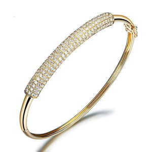 1.15 CT Certified DIAMOND CUFF BANGLES BRACELET BRACELETS JEWELRY BRACLETS PAVE SETTING 18K WHITE GOLD Z00055 - jewelrycafee