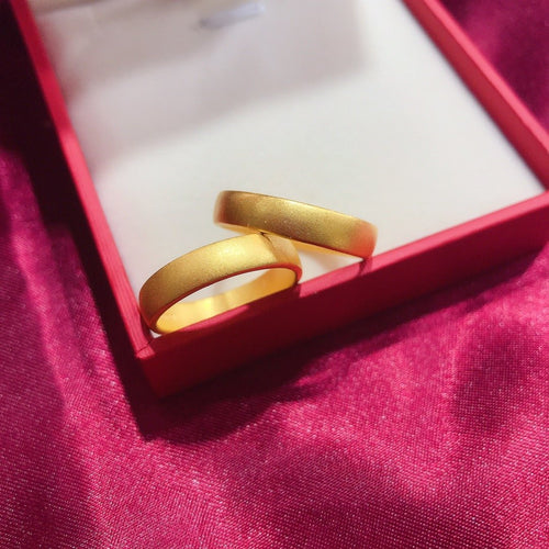 24K Pure Wedding Band Gold ring Real AU 999 Solid Gold Rings Elegant Shiny Heart Beautiful Upscale Trendy Jewelry Hot Sell New 2020