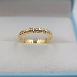 New Real Solid 18k Yellow Gold Ring Women Luck Full Star Band Ring 2.5mmW 0.7-1g US5-9