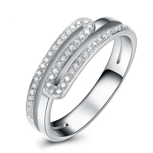 Brand Ring 100% natural diamond 0.20 ct in total 18K white gold diamond wedding women ring fine jewelry Q00955A - jewelrycafee