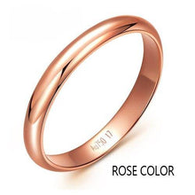 Load image into Gallery viewer, 18K gold rose white party jewelry lovers couple rings female male Smooth ring Tail ring  Lettering free Supportdrop shipping - jewelrycafee