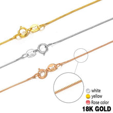 Load image into Gallery viewer, 18k Pure Gold Necklace Rose White Yellow Genuine Women Fine Simple Slim Thin Chains Hot Sale Matched For Any Pendant trendy new