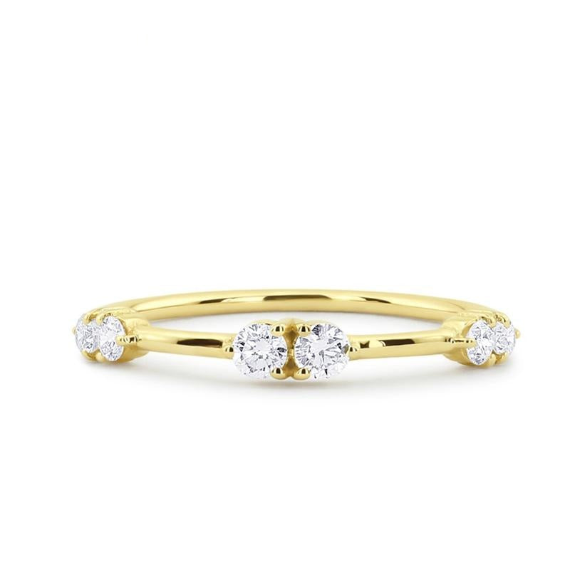 Unique Real 100% Diamond Wedding Promising Ring Cluster Prong Setting in 14k Gold Fine Jewelry For Women - jewelrycafee