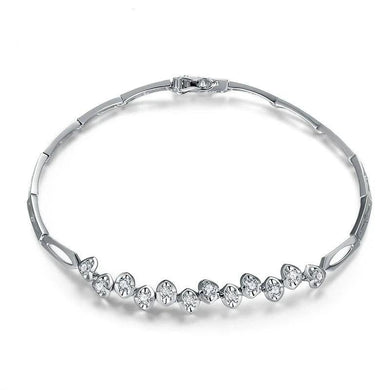 DESIGNER 0.48 CT CERTIFIED DIAMOND BRACELET BRACELETS JEWELRY BRACLETS ROUND CUT 18K WHITE GOLD S00008 - jewelrycafee