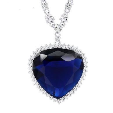 Xuping Heart Shape Pendant Necklace With Synthetic Cubic Zirconia Jewelry for Women Christmas Day Gifts M11-43164 - jewelrycafee